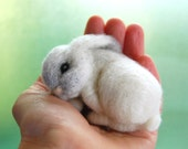 Sleeping Felted Bunny. Baby Bunny Felted. Needle Felted Rabbit. White Baby Rabbit. Bunny Felt. Easter Bunny. Needle Felted Bunnies