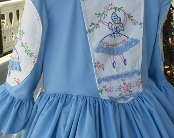 Girl's Ships Today   One of a Kind - Colonial Dress, Felicity, American Girl Costume -   Girls Sz   5 - 6