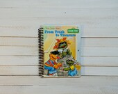 Little Golden Book/ Recycled Journal/ Spiral journal/ blank notebook/  Trash to treasure