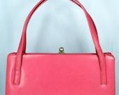 Rockabilly Purse Vintage 50s Elegant CORAL Mod - Kelly Bag Handbag // Vintage Purses by  TatiTati Style on Etsy