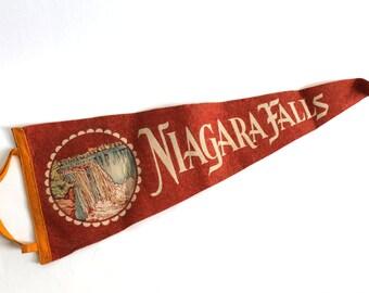 Vintage Niagara Falls Felt Souvenir Pennant