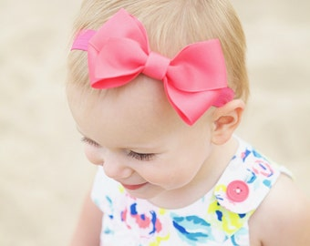 Baby Headband, 100+ colors, Medium Kinley Headband,Baby Bow, Hair Bow, Baby Shower, Kinley Kate Bows, Baby Girl, Available on clips, Baby