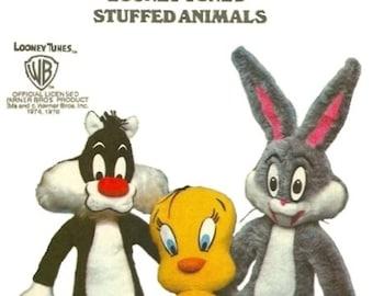 Butterick 6347 Looney Tunes 70s Stuffed Animal Sewing Pattern