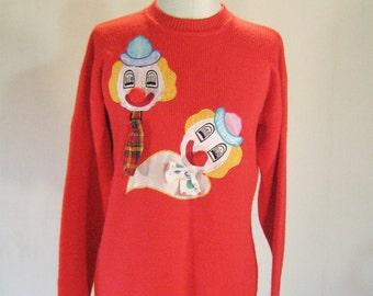 Tacky Clown Duo 3D Pop Art Sweater Top