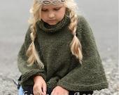 Knitting Pattern - Grove Cape (2, 3/4, 5/7, 8/10, 11/13, 14/16, S/M, L/XL sizes)