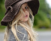 CROCHET PATTERN-The Wanderlust Brim Hat (Toddler, Child, and Adult sizes)