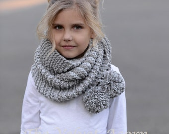 KNITTING PATTERN-The Tussock Scarf (Toddler, Child, Adult sizes)