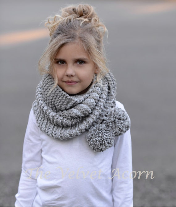 Knitting Pattern The Tussock Scarf Toddler Child Adult