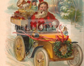 Five (5) 72 dpi 1908 Santa Claus Lithographs Lo-res Images - Digital Download Christmas -  Immediate Download