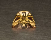 Crest of Hylia Loose Lab Created Flame Fusion Orange Sapphire Faceted Zelda Themed Gemstone