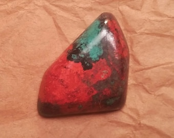 Sonora Sunset Chrysocolla Cuprite Freeform Designer Cabochon from Milpillas Mine in Mexico Sonoran Sunrise