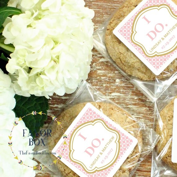 Items similar to 24 personalized cellophane cookie bags for Cookie bags for wedding