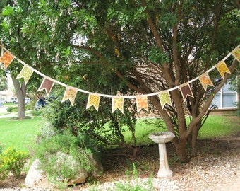 Fall Burlap Garlands, Fall Burlap Buntings, Fall Burlap Banners, Burlap Flags, Fall Decor, Autumn Banner, Autumn Party Decor, Photo Prop
