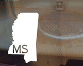 Mississippi Car Decal, State Decal, Mississippi Decal, Laptop Decal, Laptop Sticker, Car Sticker, Car Decal, Vinyl Decal, MS, Window Sticker