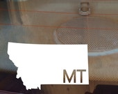 Montana Car Decal, State Decal, Montana Decal, Laptop Sticker, Laptop Decal, Car Sticker, Car Decal, Vinyl Decal, MT, Window Sticker, Decal