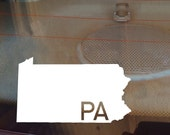Pennsylvania Car Decal, State Decal, Pennsylvania Decal, Laptop Decal, Laptop Sticker, Car Sticker, Car Decal, Vinyl Decal, PA, Window Decal