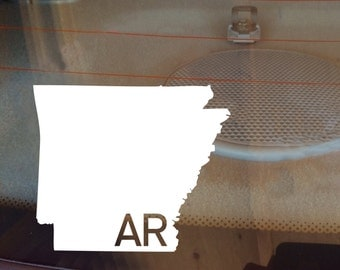 Arkansas Car Decal, State Decal, Arkansas Decal, Laptop Sticker, Laptop Decal, Car Sticker, Car Decal, Vinyl Decal, AR, Sticker, Any State