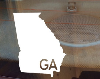 Georgia Car Decal, State Decal, Georgia Decal, Laptop Sticker, Laptop Decal, Car Sticker, Car Decal, Vinyl Decal, GA, Window Sticker