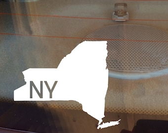 New York Car Decal, State Decal, New York Decal, Laptop Decal, Laptop Sticker, Car Sticker, Car Decal, Vinyl Decal, NY, Window Decal, Home