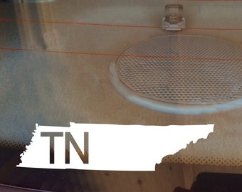 Tennessee Car Decal, State Decal, Tennessee Decal, Laptop Decal, Laptop Sticker, Car Sticker, Car Decal, Vinyl Decal, TN, Window Decal, Home
