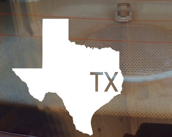 Texas Car Decal, State Decal, Texas Decal, Laptop Decal, Laptop Sticker, Car Sticker, Car Decal, Vinyl Decal, TX, Window Decal, Any State