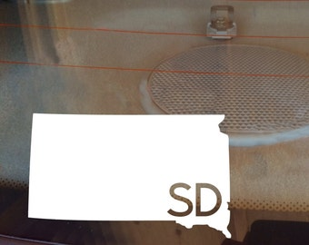South Dakota Car Decal, State Decal, South Dakota Decal, Laptop Decal, Laptop Sticker, Car Sticker, Decal, Vinyl Decal, SD, Window Decal