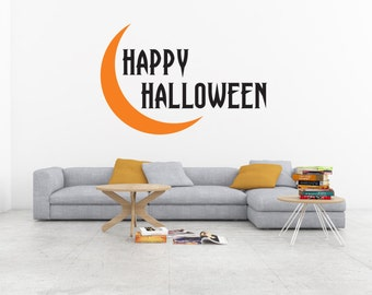 halloween decal halloween decoration happy halloween halloween wall decor halloween wall decal - Halloween Wall Decoration