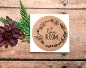 Let Love Bloom Stickers, Envelope Seals, Wedding Label, Packaging Label