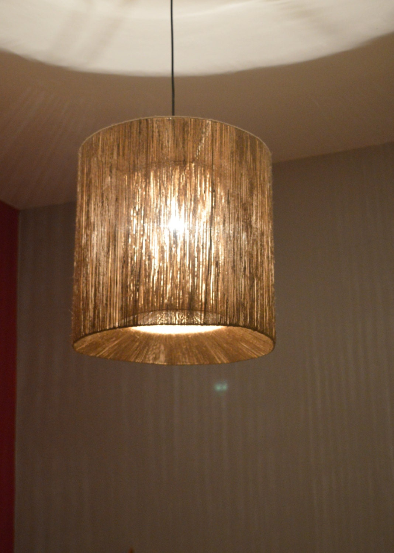 Modern Lamp Twine Pendant Light String Ceiling Lamp Double