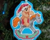 Rocking Bear Cross Stitch Ornament