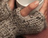 Fingerless gloves, knitting pattern, pdf, diy knit