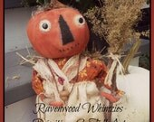 Sale - Primitive pumpkin, primitive pumpkin gal, primitive fall, primitive halloween, pumpkin