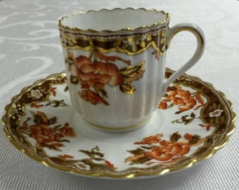 Copeland Spode Tea Cup and Saucer; Demi; 19th century  circa 1875-1890     #DSC