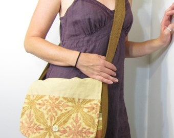 Patchwork Brown Messenger Bag Summer Festival Hippie