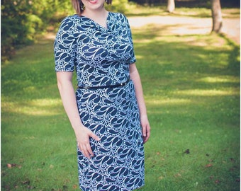 Milan Drape Neck Dress and Top Women's PDF Sewing Pattern