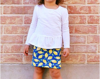 Pipsqueak Pencil Skirt: Girls Pencil Skirt Pattern, Girls Skirt Pattern, Baby Skirt Pattern, Toddler Skirt Pattern