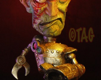 Silver Warbot Mix-and-Match Ornament Standie by Tom Taggart