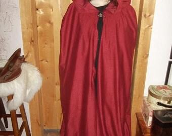 burgundy cloak with rose clasp