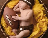Baby Boy Football Hat & Diaper Cover Set - Baby Boy Newborn Hats - Cute Photo Prop - ON SALE