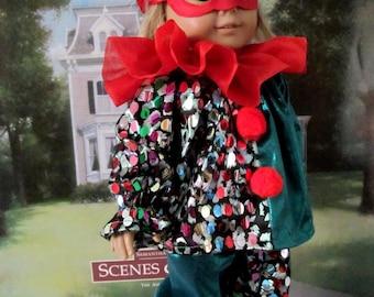 Clown Costume, Halloween Costume, Dress up Costume, Doll Costume