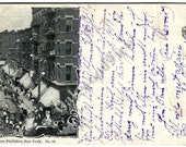 1900 Jewish Quarter Hester Street Postcard, Private Mailing Card, New York City NYC, Antique Scarce Ephemera, FREE SHIPPING