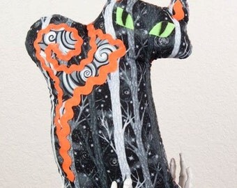 Fraidy Cat Halloween Plush Ghost Kitteh in Classic Spook