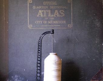 Antique Cast Iron General String Holder - Great Craft Room Decor!