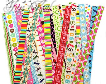 10mm Width Mixed Ribbons Scrap Pack