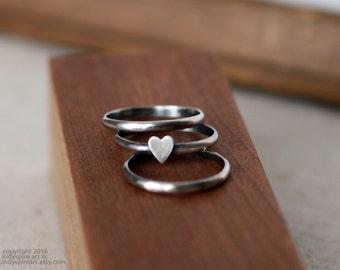 Heart Ring: Stacking Ring Set.