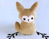 Fennec Fox Plushie. Stuffed Toy, Desert Fox Softie, Fennec Fox Doll, Vixen Plush Toy, Small Fox Gift, Cute Minky Plush, Soft Toy Fox