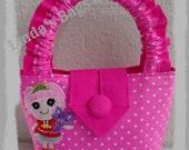 Girls Pink Polka Dot Bag with a Lalaloopsy Embroidery Design