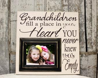 Grandparent sign, Grandchildren sign,  Grandparents Picture Frame, Mimi, Papa, Grandma, Grandpa, Grandmother, Grandfather, Nana, 16x16