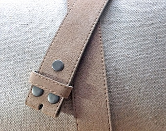 Tan Suede Belt Strap for Buckles