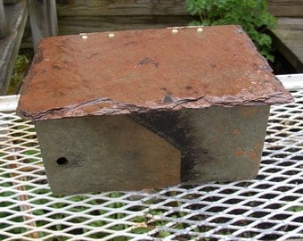 Beautiful handmade slate box. Made from weather beaten slate.  #ML-23